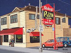 Shakey's Pizza parlor in East Sacramento. Vintage Restaurant, Cafe Restaurant, Crazy Facts, Weird Facts, Shakeys Pizza, Fast Food Advertising, Sacramento City, Mall Stores, Gold Rush