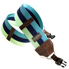 Navy, Teal & Lime DSLR Camera Strap