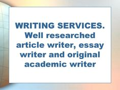 write professional academic research, essays and articles by bettlilian