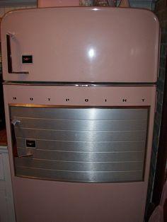 pink fridge, 1956