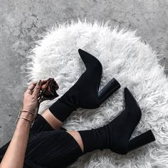 Shoes: tumblr sock boots high heels high heels boots black boots bracelets cuff bracelet