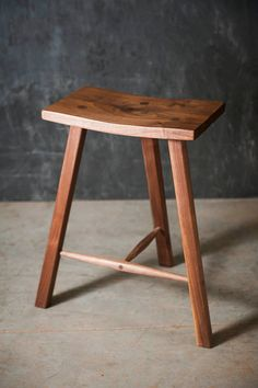 Hopes Woodshop | Handcrafted modern walnut stool