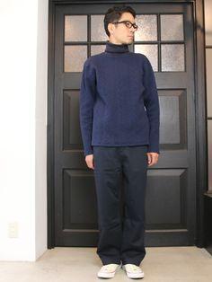 ケーブル裏毛タートルネック長袖スウェット【MADE IN JAPAN】『日本製』 / Upscape Audience - 【 Audience 】