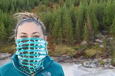 "Sewing a ""buff"": Keeping warm and staying cheap: A DIY head wrap tutorial Head Wrap Headband, Head Wrap Scarf, Diy Headband, Headband Tutorial, Diy Mask, Diy Face Mask, Face Masks, Shibori, Head Buff"