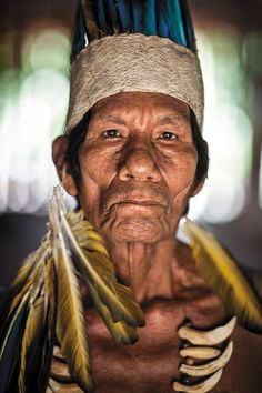 Image courtesy of Dominic Bracco II/Prime for Smithsonian Magazine. Tribes Of The World, We Are The World, People Around The World, Amazon Tribe, Indigenous Tribes, Amazon Rainforest, Many Faces, Interesting Faces, Portraits