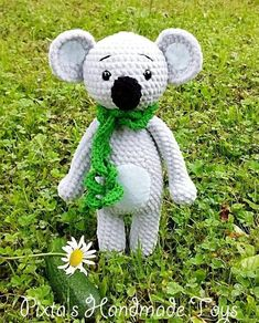 Crochet your own super soft koala with free amigurumi plush pattern by Pixtas Handmade. This amigurumi toy is easy to crochet and a nice present for anyone. Amigurumi Doll Pattern, Crochet Amigurumi Free Patterns, Plush Pattern, Crochet Toys, Amigurumi Toys, Crochet Animals, Crochet Elephant Pattern Free, Stuffed Animal Patterns, Handmade Toys