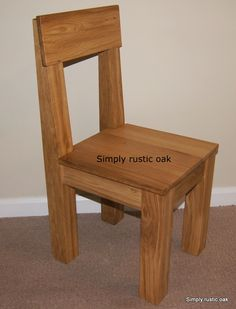 Rustic Oak Plank Dining Chair