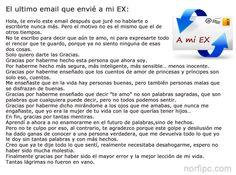 El ultimo email que envié a mi EX