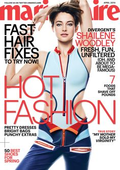 #Divergent star #ShaileneWoodley graces the cover of @no way Claire's April issue