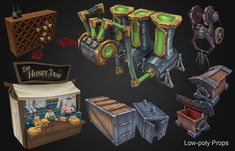 ArtStation - Environment Props and Concepts, Bronson Bradley