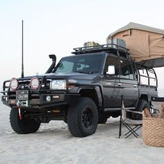 Land Cruiser HZJ camping