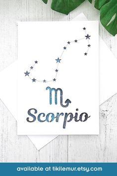 Tongue in Cheek Tour Through the Zodiac A6 Scorpio Birthday Card