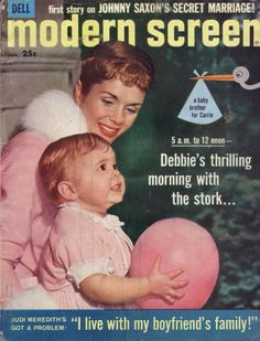 Modern Screen- Carrie Fisher with mother Debbie Reynolds