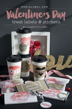 Printable Valentine's Day Labels - Lia Griffith