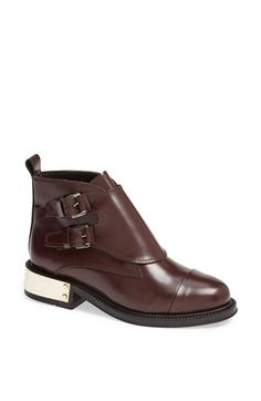 Topshop 'Pertora' Leather Monk Strap Boot available at #Nordstrom