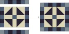 Sew Scrappy or Themed When You Make Lincoln's Platform Quilt Blocks: Finish Assembling the Lincoln's Platform Quilt Block