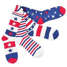 b181ecbd0 American Flag Women s Crew Socks - Stars and Stripe 4-Pack SoxFifthAve  http