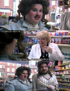 Little Britain is our favourite all-time sketch! Full of inappropriateness, offensive jokes, whacks. Little Britain, Moustache, Dares, Fictional Characters, Mustache, Fantasy Characters, Moustaches