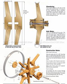 Making Wooden Wheel - Other Woodworking Plans and Projects Wood Projects For Beginners, Easy Wood Projects, Woodworking Projects That Sell, Popular Woodworking, Fine Woodworking, Woodworking Crafts, Projects To Try, Furniture Projects, Woodworking Equipment