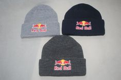 23cd9f08a8f New Red bull Beanie Athlete Only Navy Blue Dark Gray Light Gray Red Black  hat
