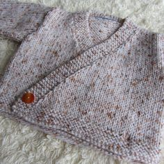 Hand Knitted Baby Cardigan by jayceeoriginals on Etsy, $15.00
