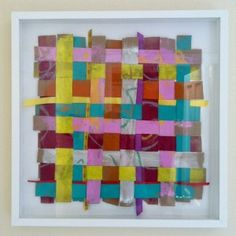 The kids would enjoy this...paint paper bags, cut into strips, pick out some ribbon, and weave.