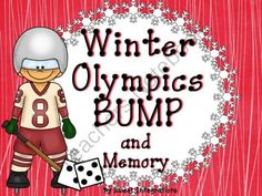 """FREE Winter Olympic Games BUMP and Memory Freebie from Sweet Integrations...With a Taste of Technology on TeachersNotebook.com (11 pages)  - """"BUMP"""" with a Winter Olympic theme. I've included two different Bump addition games with Olympic Torch markers. I've also added blank cards so you can add your own numbers.  This product is a sneak peak of my Winter Olympic Units for P"""