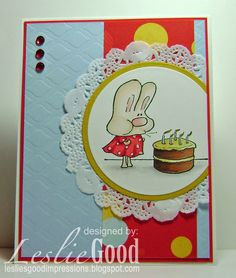 Make a Wish Hoppy Poppy card by Leslie Good, image Stampingbella