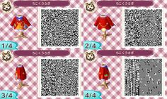 Animal Crossing QR Code blog An Alice in wonderland outfit set #3 White Rabbit