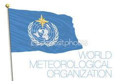 Nazioni Unite, lorganizzazione meteorologica mondiale, Wmo bandiera — Vettoriali…