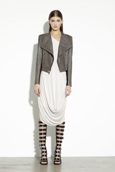 DKNY PFa2013 Look 27  Neutrals, drape vs. structure, minimalist, effortless. Ethereal badass.