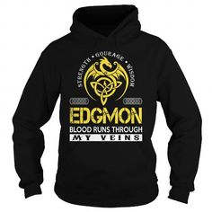 I Love EDGMON Blood Runs Through My Veins (Dragon) - Last Name, Surname T-Shirt T-Shirts
