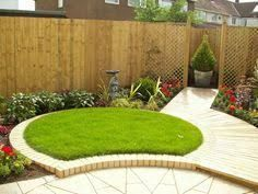 image result for garden designs for triangular gardens