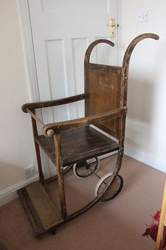 Invalid chair, made in Birmingham UK, early 20th century