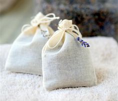 Lavender dryer bags are a natural way to freshen laundry.