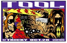 TOOL & Tricky 2001 @ Cynthia Woods Mitchell Pavilion The Woodlands, TX - Trippy ass Poster :)