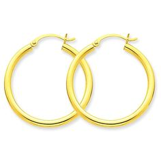 d7b456823c95 10K Gold Polished Round Hoop Earrings Jewelry 25 x 2.5mm     Thanks a lot  for having viewed our picture. (This is our affiliate link)  hoopearrings