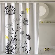 Charmant Grey Black White Yellow Shower Curtain