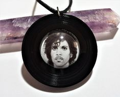 Prince Art Record Resin Pendant, musician jewelry, Prince Art, Celebrity jewelry