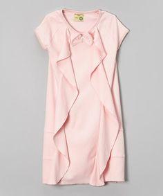 Light Pink Organic Ruffle Dress - Infant, Toddler & Girls