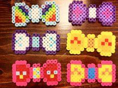 bow perler patterns   Items similar to 1 Perler Bead Bow: My Little Pony Perler Hairbow ...