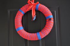 The Amazing Spider-Man Wreath for Birthday/ Baby shower/ Parties: READY TO SHIP. $40.00, via Etsy.