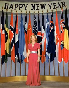 Happy vintage New Year's wishes (and diplomatic relations) from Ann Sheridan and the UN
