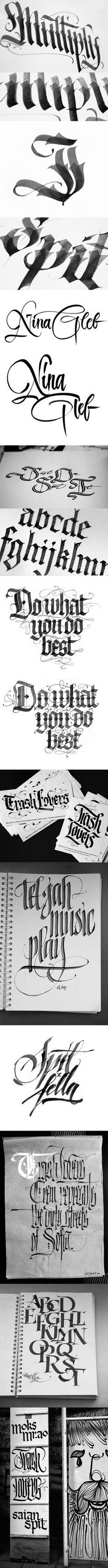 Calligraphy (mostly fraktur) holy moley