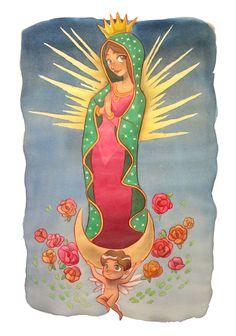 Virgen de Guadalupe by Aida Sofia Barba Flores, via Behance