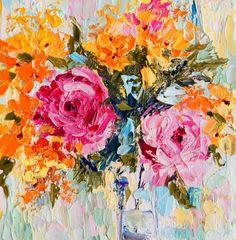Rose Flower Arrangement still life, No.3 and 4. Miniature treasure paintings