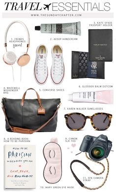 Can't Leave Without These Travel Essentials | Sunday Chapter