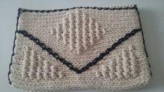 Carteira de mão - crochê de algodão 2015