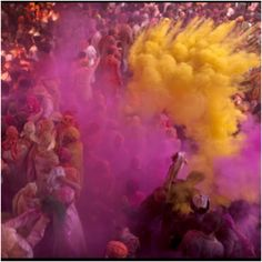 The colorful powder, the smiles and the mess, Through Holi the Hindus share in prayer, food and a universal sense of mischief that sees no religious or economic boundaries. Can you tell us where Lath Maar Holi is being celebrated in India?