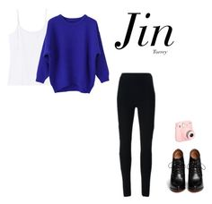 """BTS 화양연화 on stage : prologue (female version Jin)"" by effie-james ❤ liked on Polyvore featuring art, simple, kpop, korean, bts and jin"